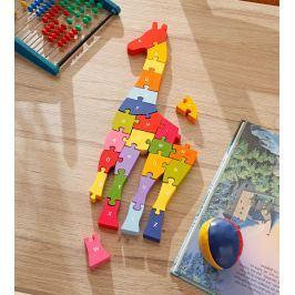 Dřevěné puzzle Žirafa A-Z