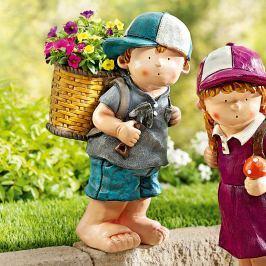 Dekorační figurka Carlo s květináčem