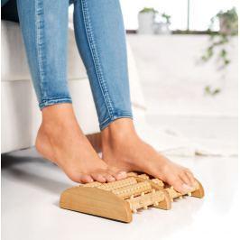 Masážní dřevěná podložka pod nohy - roller