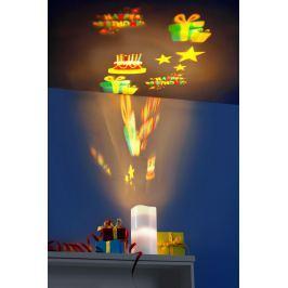 LED svíčka s projektorem, 9 motivů