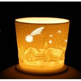 Porcelánový svícen na votivní svíčku Kometa