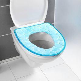 Polstrované sedátko na WC, modré