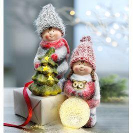 LED Zimní děti Lina a Mats