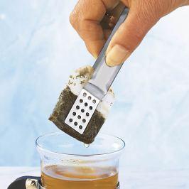 Kleště na čajové sáčky nerezové