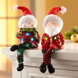 LED vánoční figurka Hermann, 1 kus, zimní muž