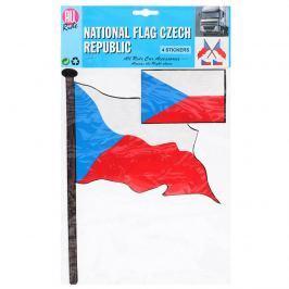 Samolepka Česká vlajka, 4 ks