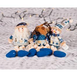 Vánoční figurky ve svetru, 3 kusy