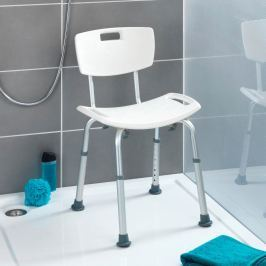 Stolička do sprchy s opěradlem