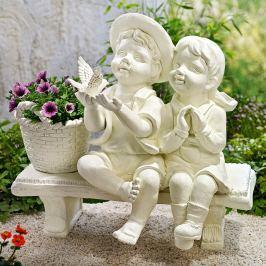 Dekorace Děti na lavičce