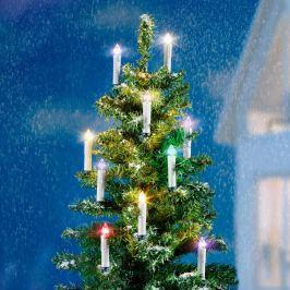 Elektrické bezdrátové svíčky na stromeček s měničem barev, 10 ks