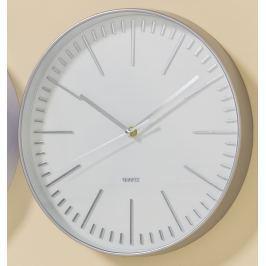 Nástěnné hodiny Eleganc, stříbrné