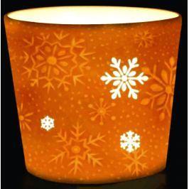 Porcelánový svícen na votivní svíčku Vločky