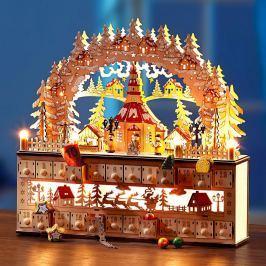 LED oblouk s adventním kalendářem
