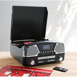 Retro gramofon s rádiem DAB+, MP3 a USB