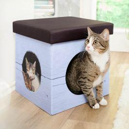 Kočičí pelíšek a stolička 2 v 1