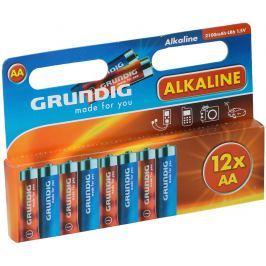 Alkalické baterie Grundig AA, 12 ks
