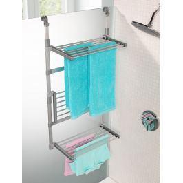 Sušák na prádlo do sprchy, 3 poličky