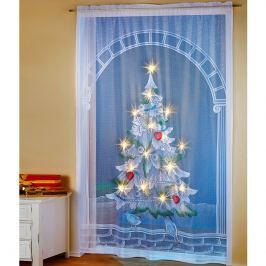 LED závěs stromeček, 150x220 cm
