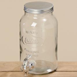 Nádoba na nápoje skleněná, 3 l