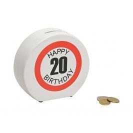 Keramická pokladnička HAPPY BIRTHDAY 20