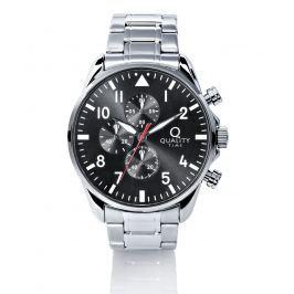 Pánské hodinky Quality Time - Chronograf, stříbrná barva
