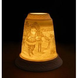 Porcelánový svícen Zvon - Santa