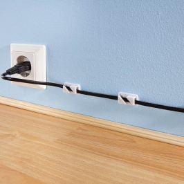 Držák kabelu samolepící, 12 ks
