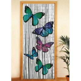 Bambusový závěs do dveří Motýl