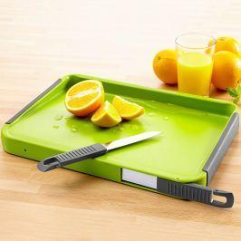 Víceúčelové kuchyňské prkénko vč. 2 nožů