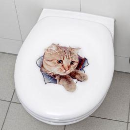 Samolepka na WC prkénko Kočka, 2 ks
