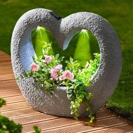 LED solární květináč Srdce