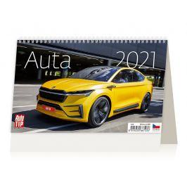 Stolní kalendář - Auta 2021