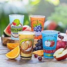 Sklenice Fruity, sada 4 ks