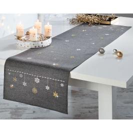 Běhoun  na stůl Sněhová vločka, 140 x 40 cm