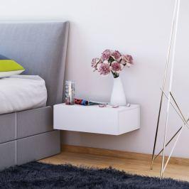 Nástěnný noční stolek Dormas, bílý
