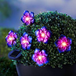 Solární světelný řetěz Květy
