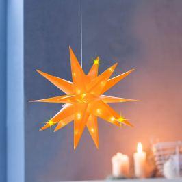 LED Hvězda Xmas, žlutá