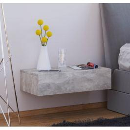 Nástěnný noční stolek Dormas Maxi, betonová