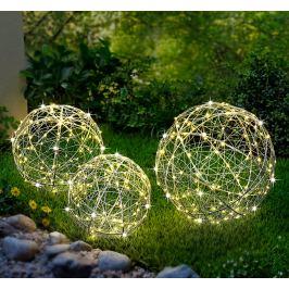 LED Drátěné koule Luce, sada 3 ks Dekorace do zahrady