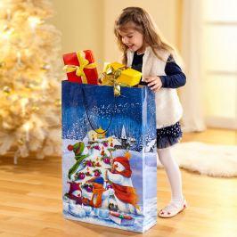 Maxi dárková taška Sněhuláčci