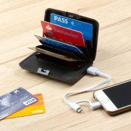 Bezpečnostní peněženka na karty s power bankou