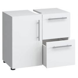 Koupelnová skříňka Flandu - pod umyvadlo, bílá