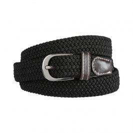 Dámský flexibilní pletený pásek, černý