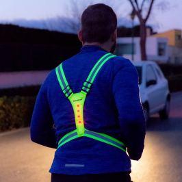 Reflexní postroj pro sportovce s LED prvky