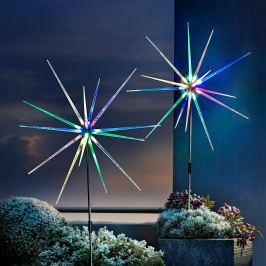 LED zahradní zápich Polárka, 2 ks