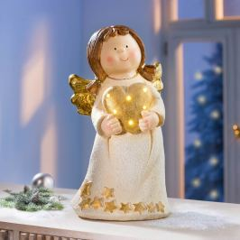 Anděl s LED srdcem