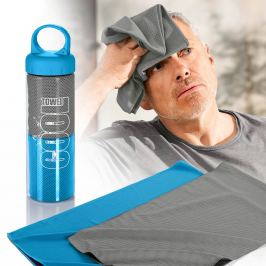 Chladící ručníky, 2 kusy, modrá a šedá