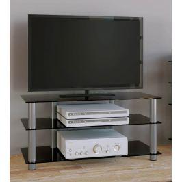 TV stolek Netasa, černé sklo