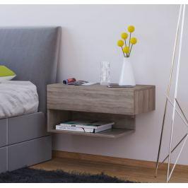 Nástěnný noční stolek Dormal Maxi, sonoma dub