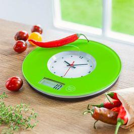 Kuchyňské hodiny s váhou